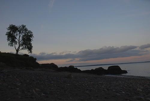 Rocky Beach at Sunset in Camden, Maine