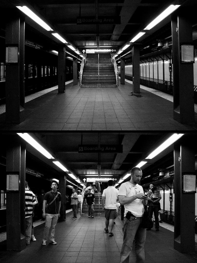 Subway Platform Diptych