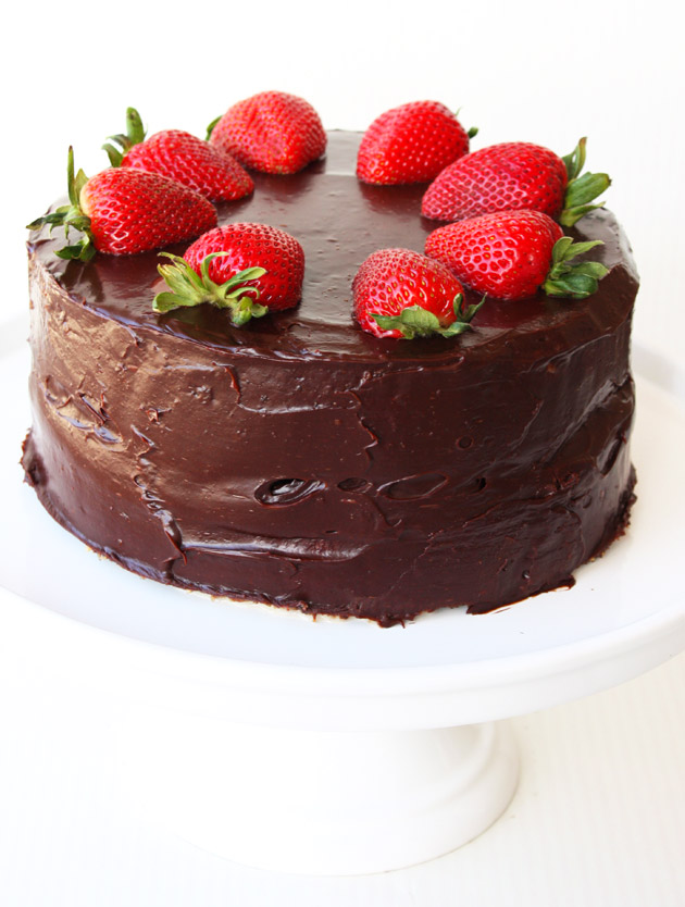 Strawberry Recipe Idea: Tres Leches Marble Cake With Strawberries and Chocolate Ganache Recipe