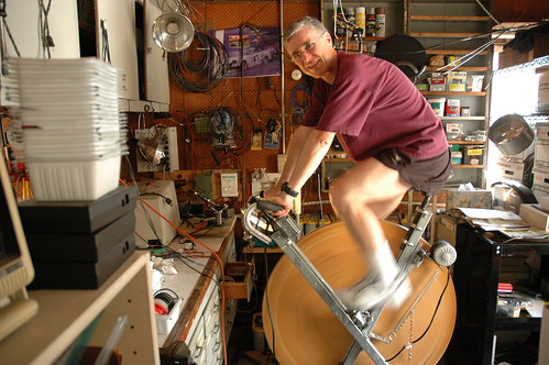 david butcher and his pedal-powered prime mover by sharpeworld.
