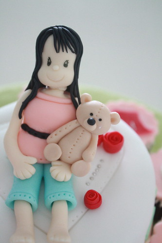 Girl & Teddy on a cake