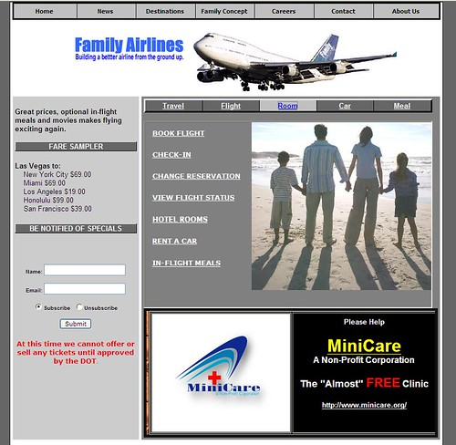 Family Airlines Website
