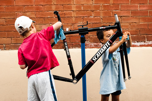 Kids Washing Bike