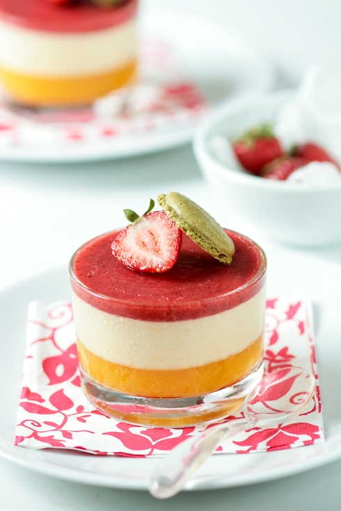Peach Mousse - Strawberry Jelly
