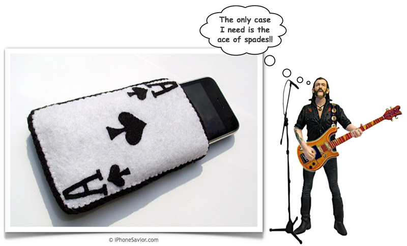 Ace of Spades iPhone Pouch