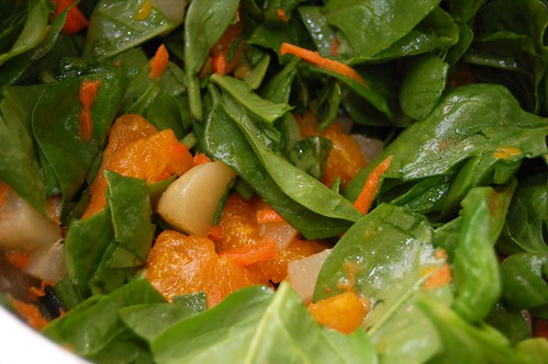 Baby Spinach Salad with Lychee Vinaigrette
