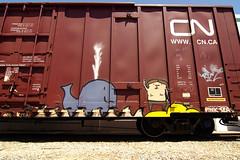 Pink Seas (TRUE 2 DEATH) Tags: california railroad streetart art cn train graffiti tag graf traintracks trains railcar spraypaint boxcar kita railways railfan freight ca