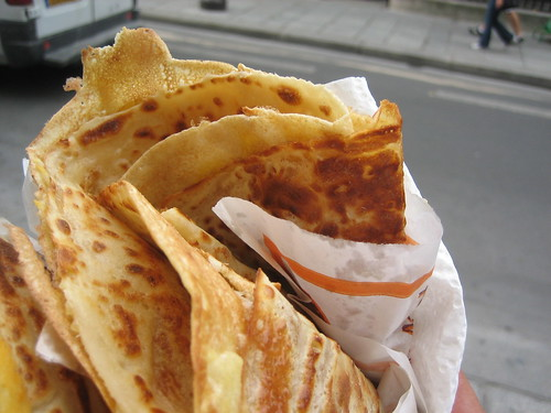 Egg and Cheese Crepe in Paris