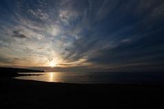 野塚野営場から見た夕陽