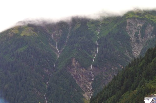 Two large rivers going down the mountain