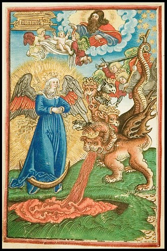 vomiting dragon - biblical scene - 16th cent. New Testament k