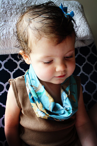 Tank top into cowl shirt for daughter
