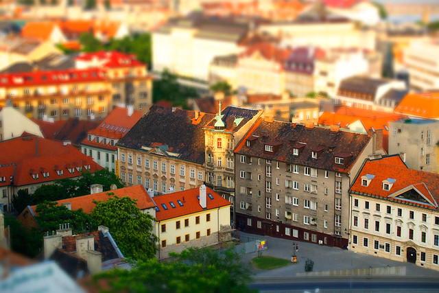 Bratislava. Photo by Renata Janosova. Photo modified in Photoshop.