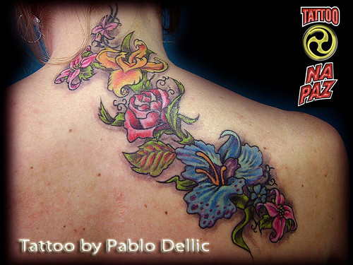 Tatuagem Feminina de Gueixa ,Geisha Tattoo by Pablo Dellic