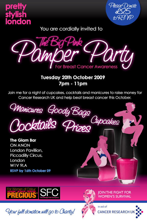 The Big Pink Pamper Party Invitation