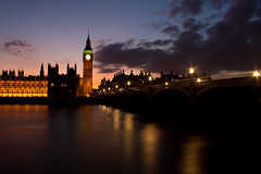 Westminster Bridge (Flakkers) Tags: uk longexposure england london westminster thames night canon river geotagged eos bigben lightroom 450d gowland geo:lon=011997 flakkers gowlandflakkerslightroomcanoneos450d geo:lat=51500558