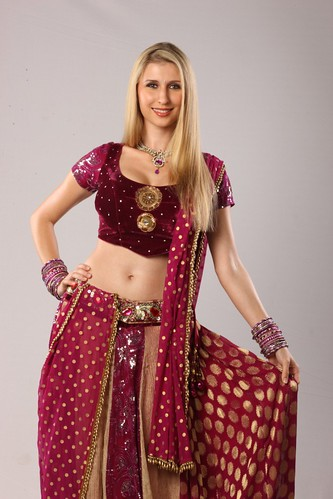 Claudia Ciesla in Indian dress