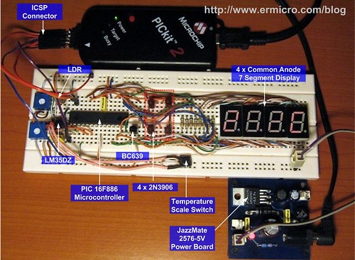 Seven Segment Display Thermometer with PIC Microcontroller (2)