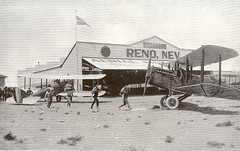 Photograph of airmail plane at Reno, Nevada