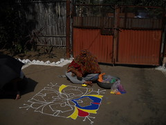 Creating Rangoli at noon , Diwali celebration with family : Sarni, Madhya Pradesh, India (dushyant_fst) Tags: india lakshmi deep firework festivaloflight monika ganesh cracker diwali hinduism crackers deepawali rangoli ganeshji 429 superd sarni goddessofwealth lakshmiji subhdiwali dushyantgadewal shobharamgadewal manjulatagadewal