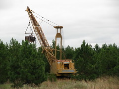 Dragline in the Pines (dbro1206) Tags: bucket machinery arkansas dragline koehring