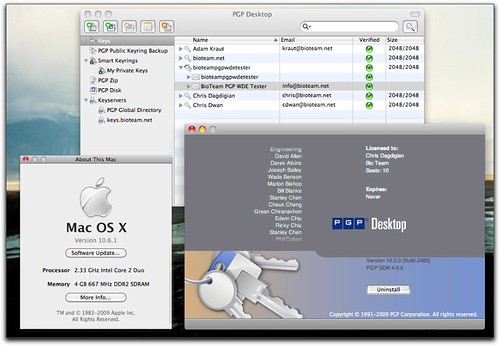 PGP Desktop running on OS X 10.6