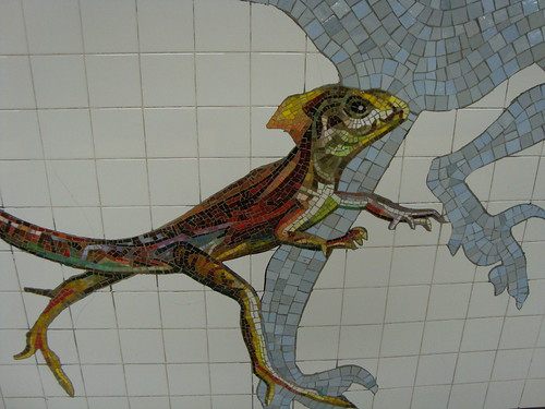 Mosaic from the subway station at the American Museum of Natural History