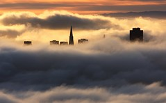 Skyline (A Sutanto) Tags: sf sanfrancisco california ca city morning shadow urban usa fog skyline clouds america sunrise buildings bay downtown north sanfranciscobay sfbay