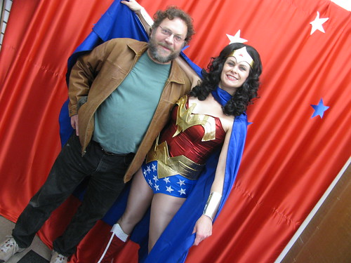 Patrick Rosenkranz at Wonder Woman Day, Excalibur Books & Comics, Portland OR, Oct. 25, 2009