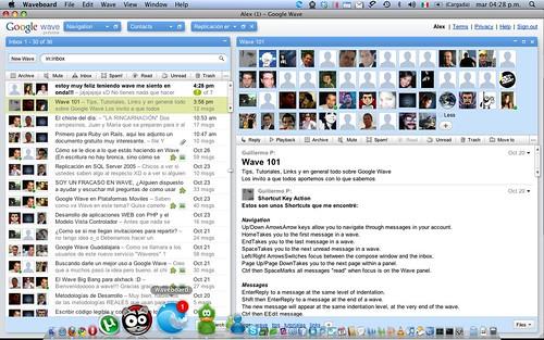 Waveboard cliente de Google Wave en Mac
