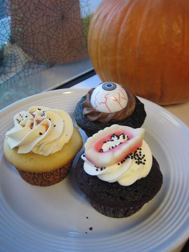 Halloween cupcakes - Trio