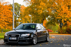 RS4 Sedan in autumn (Keno Zache) Tags: autumn tree beauty vw sedan canon germany volkswagen deutschland nice herbst sigma audi 18200 wolfsburg autostadt rs4 keno schn limusine 400d zache eos400d