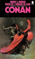 Conan by Robert E Howard (Sphere, 1974). Cover by Frank Frazetta