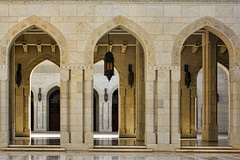 Grand Mosque, Oman (sminky_pinky100 (In and Out)) Tags: travel detail tourism beautiful architecture sandstone worship religion uae lanterns elegant oman doorways grandmosque omot eyejewel urbandetailspool