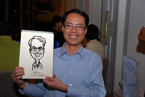 Caricature live sketching for Tetra 60th Anniversary - 9