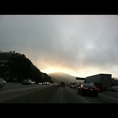 Ominous mountain view on the 405 tonight
