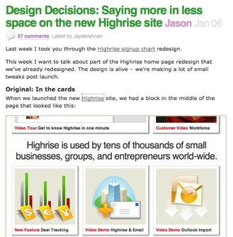 37signals Design Decisions
