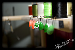 I'm seeing spots (Sparkys Girl) Tags: fish thread spools fishing tools lures flyfishing flytying 2009inphotos