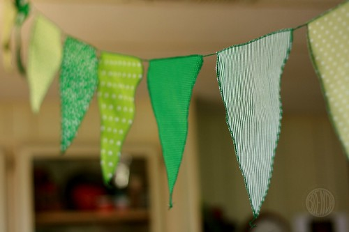 green birthday party flags!