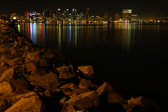 The rocky path to San Diego (San Diego Shooter) Tags: downtown sandiego sandiegoskyline downtownsandiego sandiegoatnight sandiegocityscape