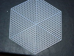 Plastic Canvas Icosahedron - Original Hexagon Plastic Canvas
