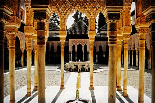 Spain - Granada - Alhambra - Court of the Lions 02