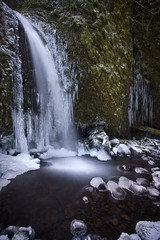 Wandering the Woods (Ar'alani) Tags: longexposure snow ice nature landscape waterfall columbiarivergorge ruckelcreek hoyamoose iceturtles