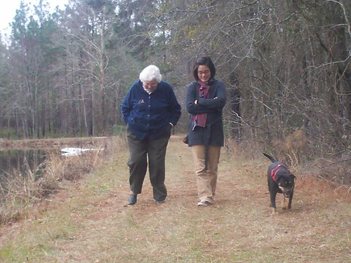 grandmom, joanna and g.g at the pond