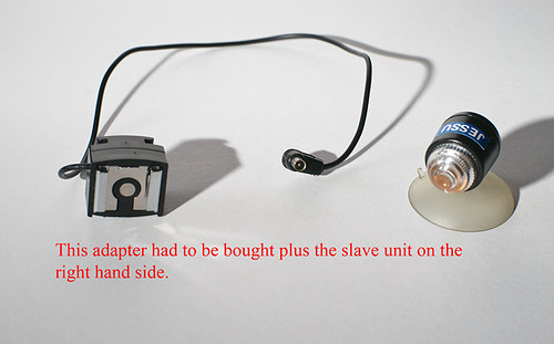 Cable needed to trigger flash