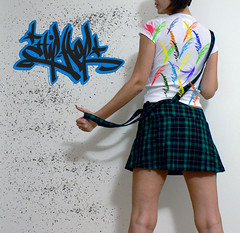 286.365 (eweliyi) Tags: me colors self graffiti paint skirt bubblegum ja fgr 365self flickrgrouproulette eweliyi saturatedsaturday februaryalphabetfun