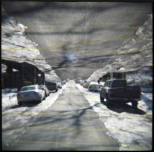urban chicago lomo kodak iso400 toycamera diana damaged scratched scratch ppf sandpaper rogerspark damagedfilm pro400 splitzer dianaplus