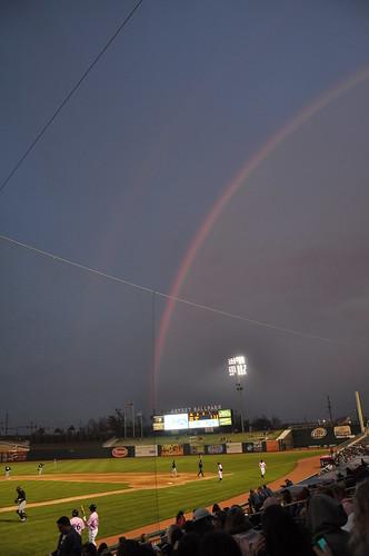 Double Rainbow - NWA Naturals vs San Antonio Missions - Arvest Ballpark - Springdale, AR - 4/17/09