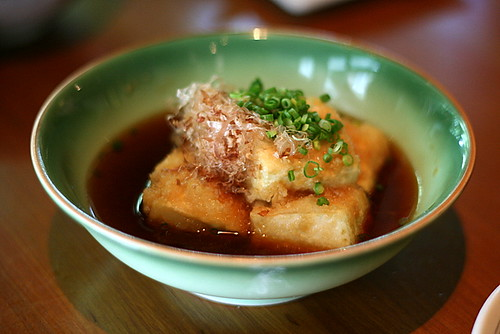 Agedashi Dofu - Deep-fried Bean Curd in Warishita Sauce