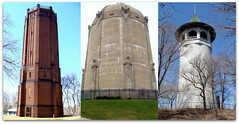 Historic Minneapolis Water Towers (Doug Wallick) Tags: county tower water minnesota collage watertower prospectpark minneapolis places historic national register picnik hennepin kenwood washburn witchshat